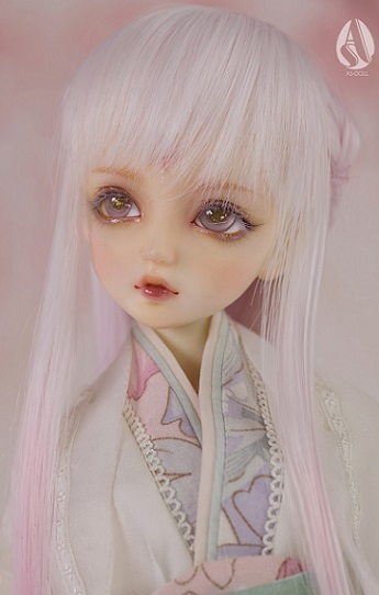 1/4 BJD Mid-Long Hair/Pink