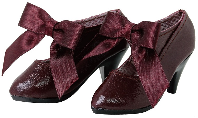 50 Classical Ribbon Shoes (Maroon)
