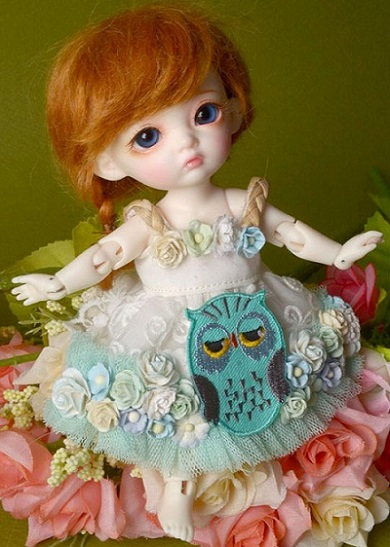 Bebe Doll - Owl Flowers Dress (Mint)