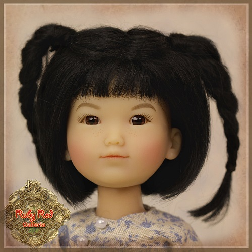 Black Doll Wig with Braids - HD0009A