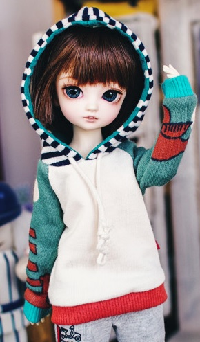 Bunny Coloration Hooded-T - Mint