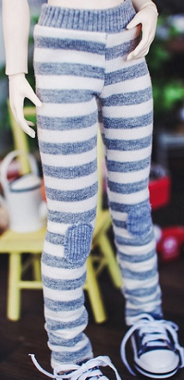 Bunny Horizontal Line Leggings - Gray