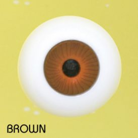 Crystal Puppenaugen Acrylic Eyes #607 - Brown, 18mm