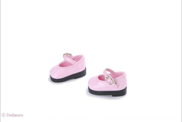 Dear Doll Size - Basic Girl Shoes (Pink Enamel)