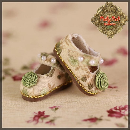 Floral and Beads Mary Janes