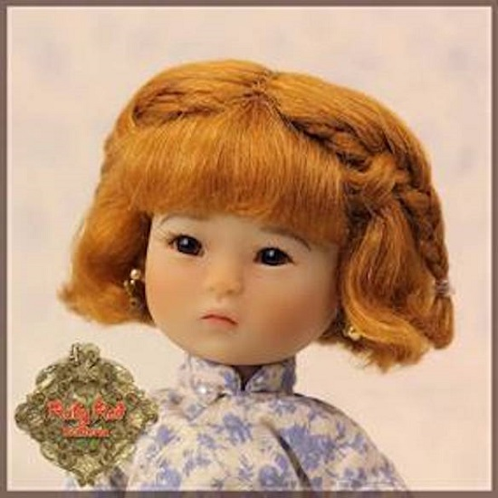 Light Brown Mohair Wig with Braids - HD0011B