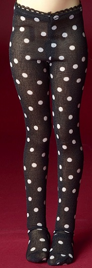 MSD - Dot Panty Stockings (Black)