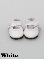 Mary Janes (25mm) - White