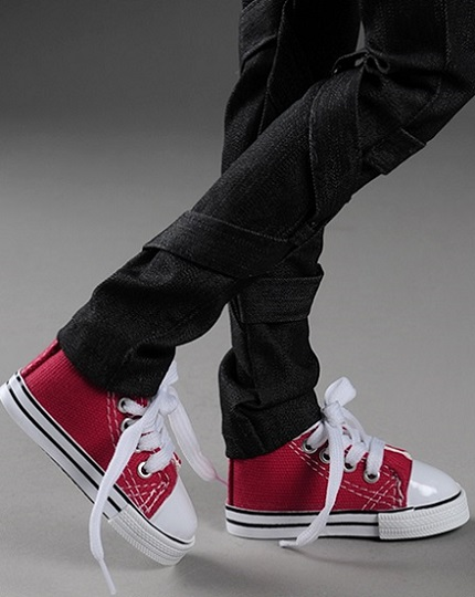Model Doll F & SD Boy Size - Love Sneakers (Red)