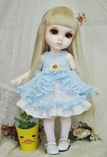 Mokashura Size - AB-05 Neomess Dress (Sky)