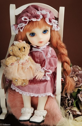 Mokashura Size - Mama Drowsy Dress Set (I. Pink)