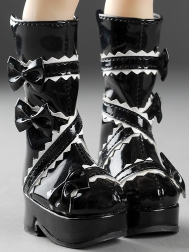 Narsha Size - French Ribbon Boots (Black)