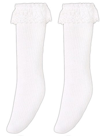 Picco D Lace Knit Socks (White) - Small Foot