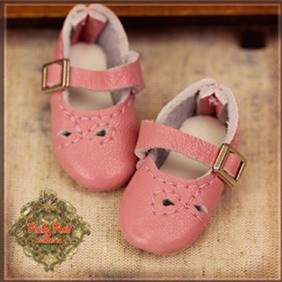 Pink Real Leather Shoes