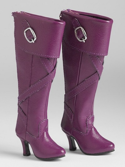 Purple Knee-High Boots