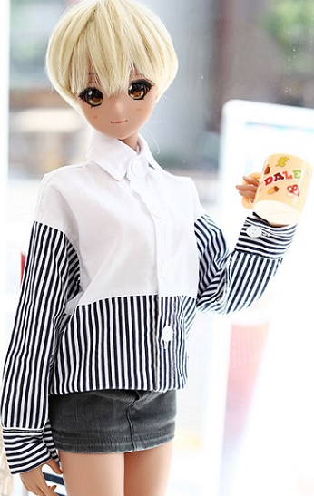 SD13 Girl & Smart Doll FreeHalf Line Shirt - Navy