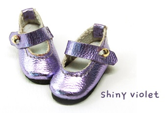 Strap Shoes (30mm) - Shiny Violet