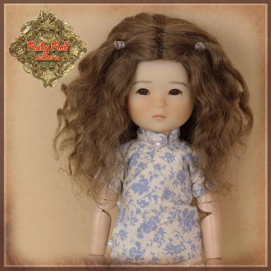 Ten Ping Brown Mohair Wig - HD0034A