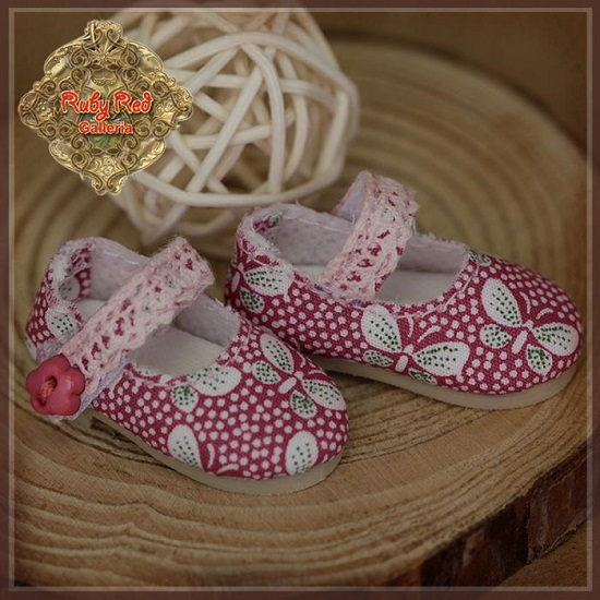Ten Ping Butterfly Print Fabric Shoes