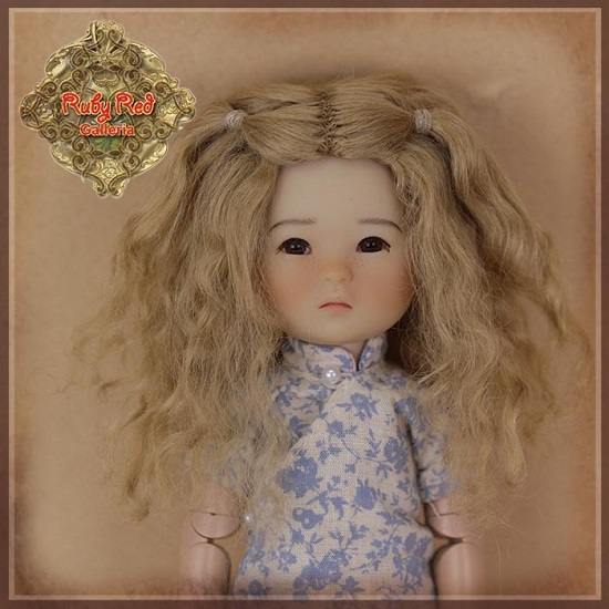 Ten Ping Light Brown Mohair Wig - HD0034B