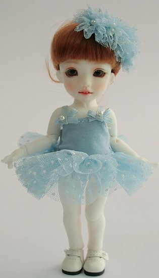 Tutu Dress Set - Blue Dot