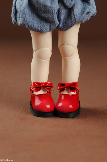 Wang Ribbon Shoes (Enamel Red)