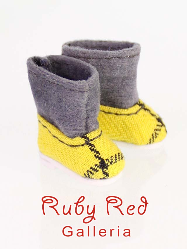 Yellow & Grey Boots
