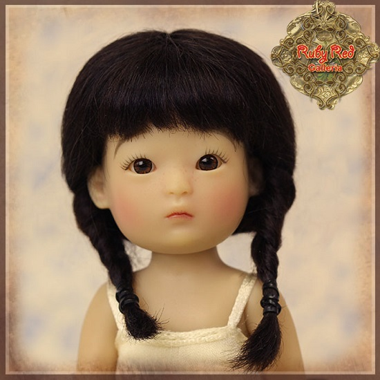 Yu Ping Black Mohair Wig with Braids