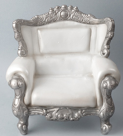 BJD Furniture  1//6 Scale USD Size Double Modern Chair White Dollmore